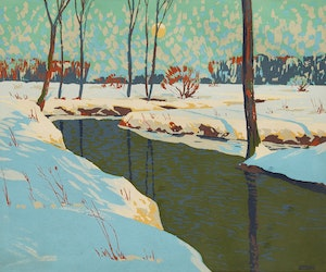Artwork by Joachim George Gauthier, Untitled (Stream in Winter)
