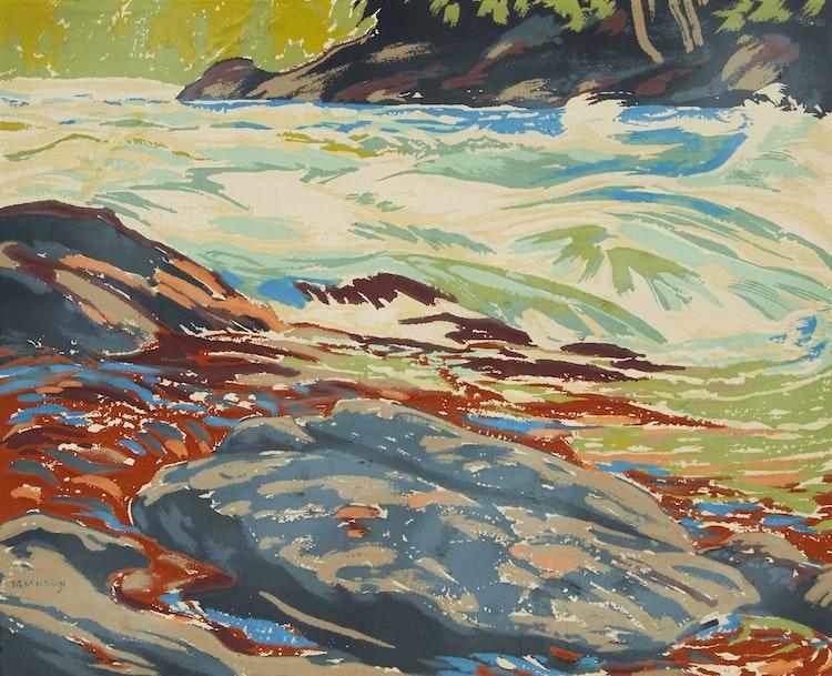 Artwork by Joseph Ernest Sampson,  Untitled (Rushing River)