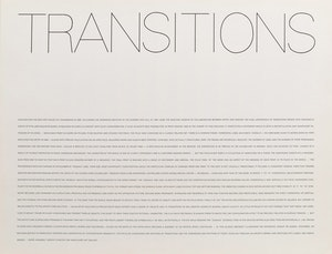 Artwork by Yves Gaucher, Transitions