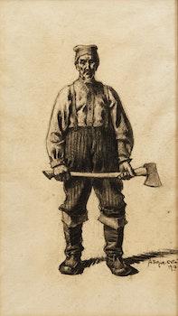 Artwork by Marc-Aurèle de Foy Suzor-Coté, Old Wood Cutter