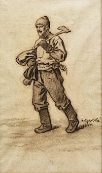 Artwork by Marc-Aurèle de Foy Suzor-Coté, Wood Chopper Going to Work