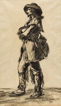 Artwork by Marc-Aurèle de Foy Suzor-Coté, Gentilhomme pionnier
