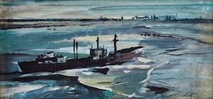 Artwork by George Lorne Holland Bouchard, Seascape