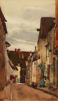 Artwork by William Brymner, Village Street