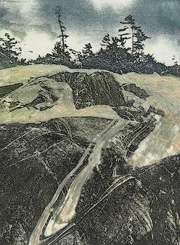 Artwork by Edward John Bartram, Black Rock, Precambrian Shield Series