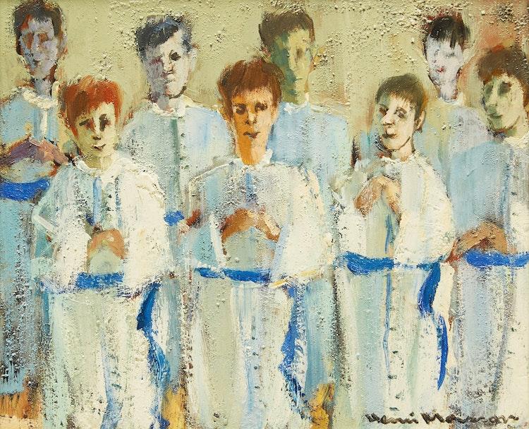 Artwork by Henri Leopold Masson,  White Choir Boys