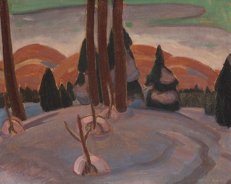 Artwork by André Charles Bieler,  Winter, Saint-Sauveur