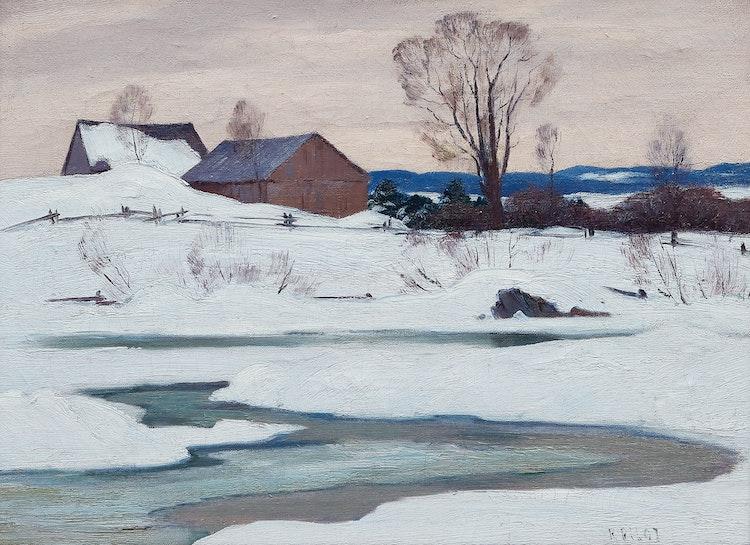 Artwork by Robert Wakeham Pilot,  Farm in Winter