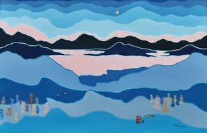 Artwork by Ted Harrison, Blue Land
