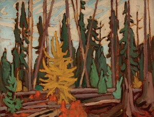 Artwork by Lawren Stewart Harris, Algoma Sketch XCII (Algoma Autumn)