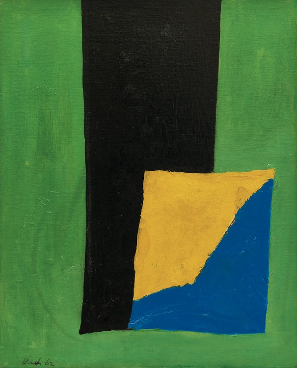 Artwork by Jack Hamilton Bush,  Ochre Blue Square