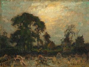 Artwork by Marc-Aurèle de Foy Suzor-Coté, Near Arthabaska at Dusk
