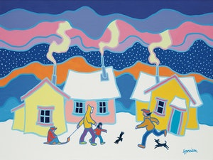 Artwork by Ted Harrison, A Winter Morning