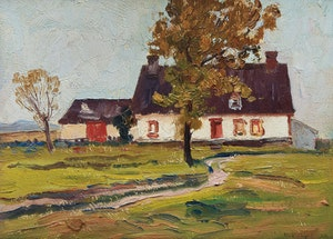 Artwork by Robert Wakeham Pilot, Old House in Beaupré