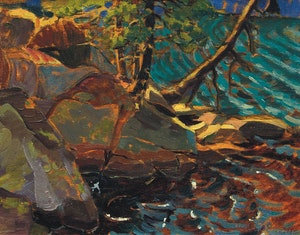 Artwork by Doris Jean McCarthy, Sun Magic (North Lake, Haliburton)