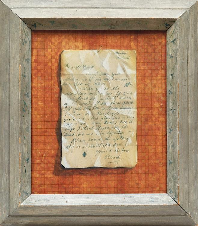 Artwork by William Kurelek,  Letter to an Old Friend