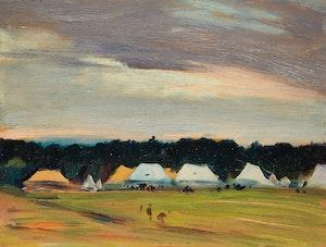Artwork by Robert Wakeham Pilot, Black Watch Tents, Aldershot Camp, Nova Scotia