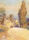 Thumbnail of Artwork by Frederick Henry Brigden,  Looking down Danforth Ave. from Broadview Corner, 1891