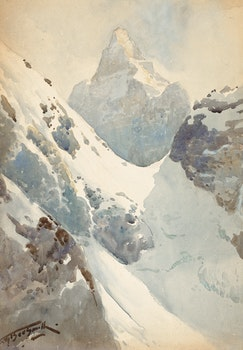 Artwork by Frederic Marlett Bell-Smith, Abbott Pass and Mount Biddle
