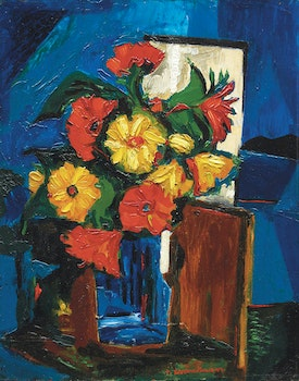 Artwork by Fritz Brandtner, Composition with Flowers (1938)