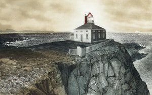 Artwork by David Lloyd Blackwood, Cape Spear, Newfoundland