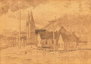 Artwork by Edward John Hughes, Indian Church, North Vancouver, B.C.