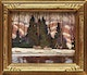 Thumbnail of Artwork by Peter Clapham Sheppard,  Hauling the Maple Syrup out of the Bush