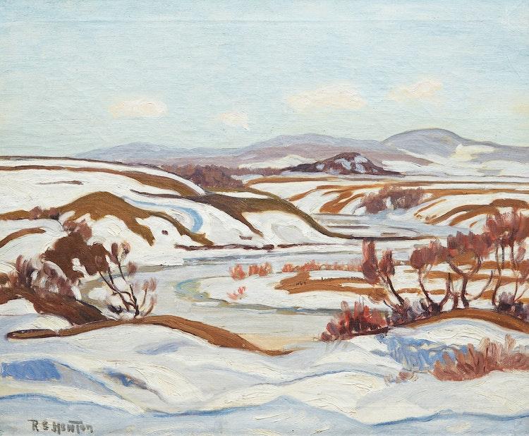 Artwork by Randolph Stanley Hewton,  Quebec River Landscape