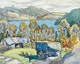 Thumbnail of Artwork by Franklin Carmichael,  Old Barns, Miner's Bay