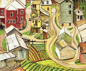Artwork by Doris Jean McCarthy, Murray Bay from Above, 1947