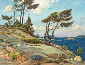 Artwork by Frank Shirley Panabaker, Georgian Bay Landscape