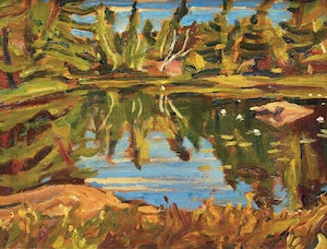Artwork by Alexander Young Jackson, Lake Reflection