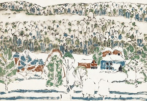 Artwork by David Brown Milne, Soft Hills (Misty Hill) (Boston Corners, N.Y.)