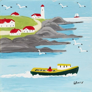 Artwork by Maud Lewis, Boat Going to Sea