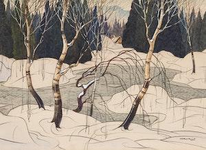 Artwork by Graham Noble Norwell, Winter Landscape
