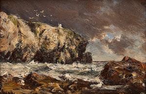 Artwork by Homer Ransford Watson, The Cliff Light, Cape Breton