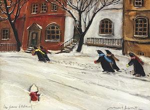 Artwork by Normand Hudon, Les soeurs d'Outremont (1989)