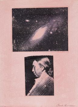 Artwork by Carl Beam, Untitled (Space & Native Figure)