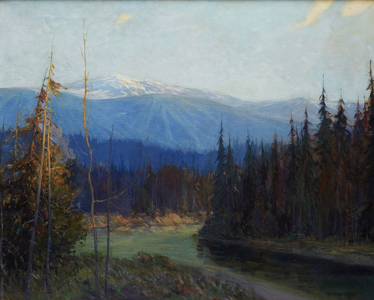 Artwork by James Henderson,  Meeting of Two Rivers