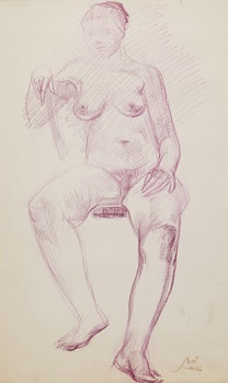 Artwork by Leo Mol, Seated Nude