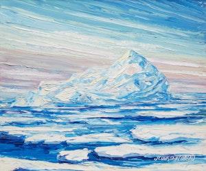 Artwork by Jean Constantineau, Un glacier