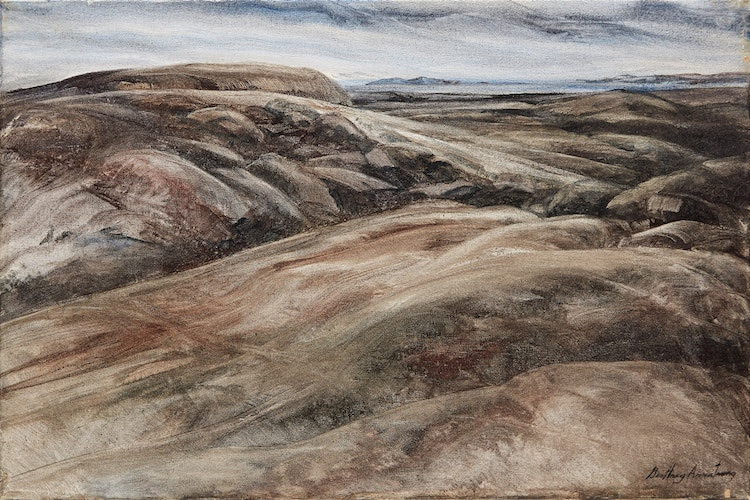 Artwork by Geoffrey Armstrong,  Rocky Landscape
