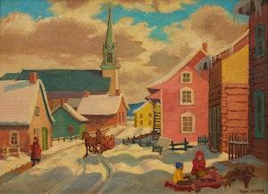Artwork by Thomas Albert Stone, St. Urbaine, Church; St. Urbaine, Street