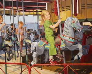 Artwork by Rolfe Pryne, Merry-Go-Round