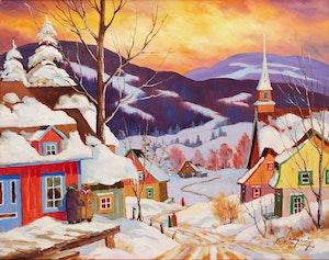 Artwork by Claude Langevin, Village Charlevoix