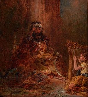 Artwork by Otto Reinhold Jacobi, Saul and King David
