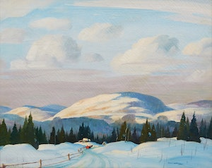 Artwork by Graham Noble Norwell, Untitled (Winter Landscape)