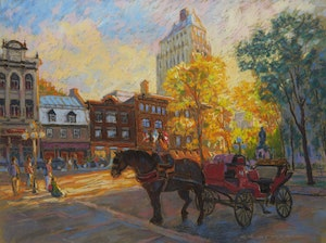 Artwork by Juan Cristobal, Afternoon in the Square