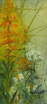 Artwork by Marjorie Pigott, Three Florals