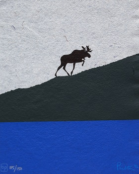 Artwork by Charles Pachter, The Ascent